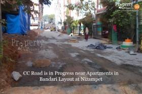 New CC Road near Bandari Layout, Nizampet