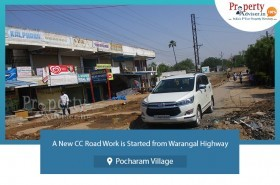 new-cc-road-started-from-warangal-highway-to-pocharam