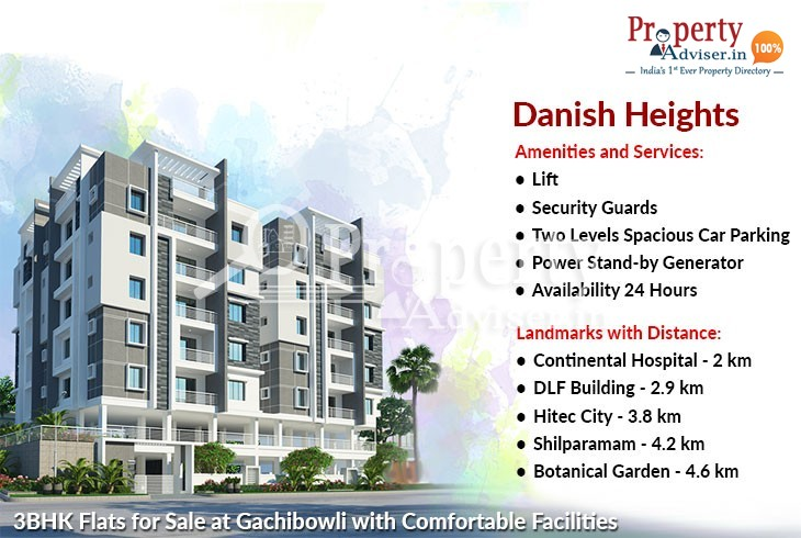 3BHK Flats for Sale at Gachibowli with Comfortable Facilities