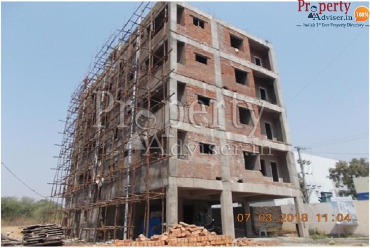 Brick Work is Completed at Rishi Avenue Apartment in Gajularamaram