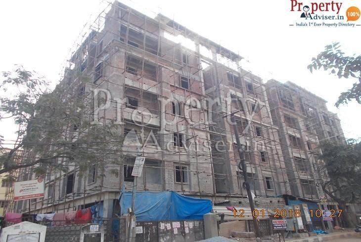 Brick work is completed in Vijaya Granduer at Sanath Nagar Hyderabad