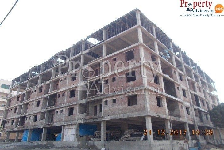 Plastering work completed forapartment at Suchitra junction Hyderabad in Vigneswara Constructions