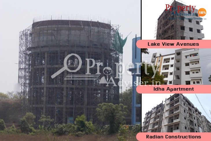 Construction of Municipal Water Tank near Residential Projects at Uppal
