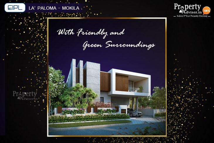 EIPL La Paloma Villas at Mokila with Friendly and Green Surroundings