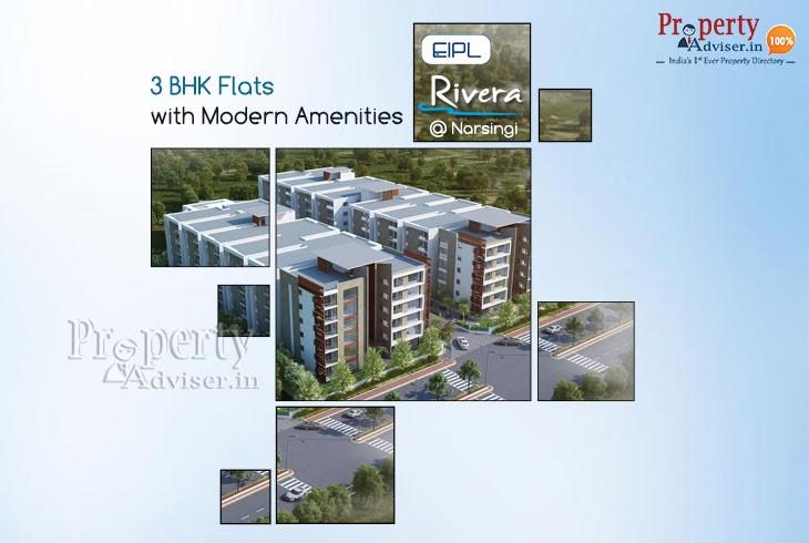 Eipl Rivera- 3bhk Gated Community Apartment For Sale Near Narsingi Junction