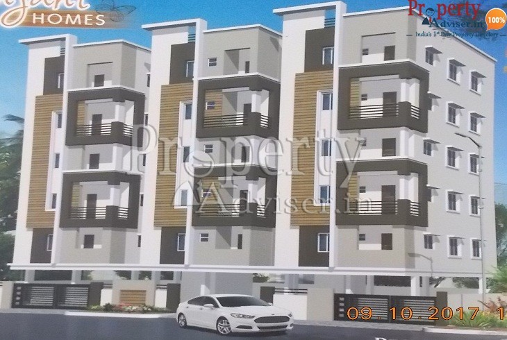 Elevation Painting Work Completed at Anjani Homes Apartment