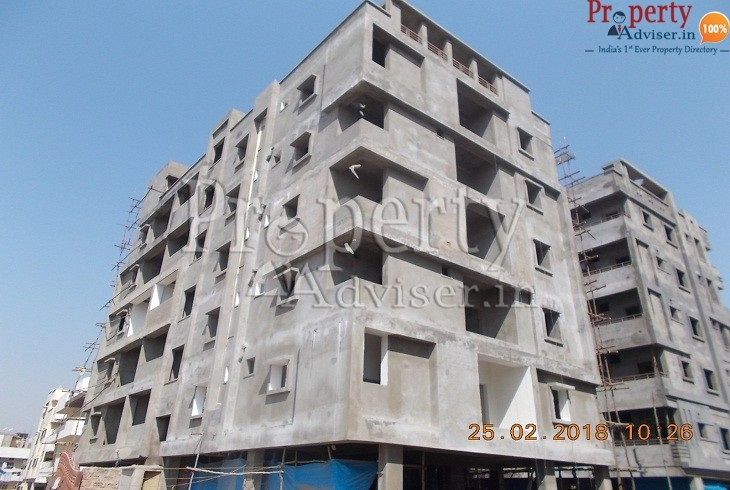 Elevation Plastering Work Completion at The Legend Residential Apartment Alwal
