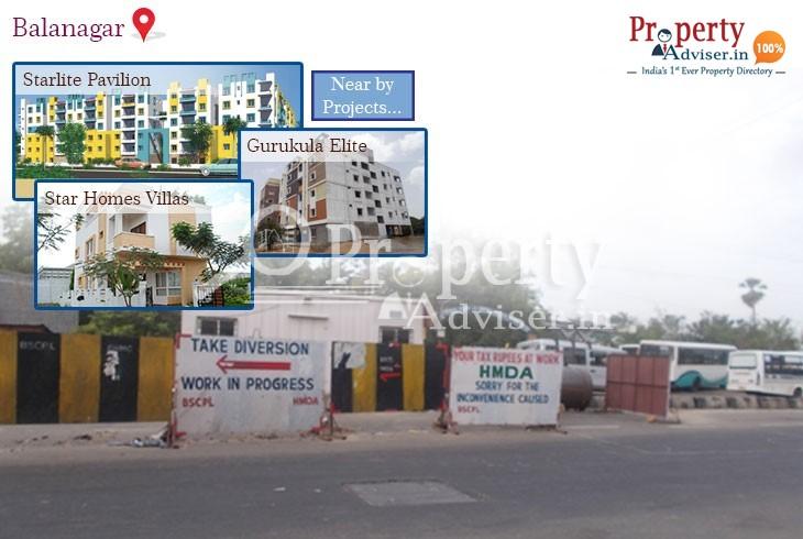 Flyover Work is in Progress near Residential Properties at Balanagar, Hyderabad