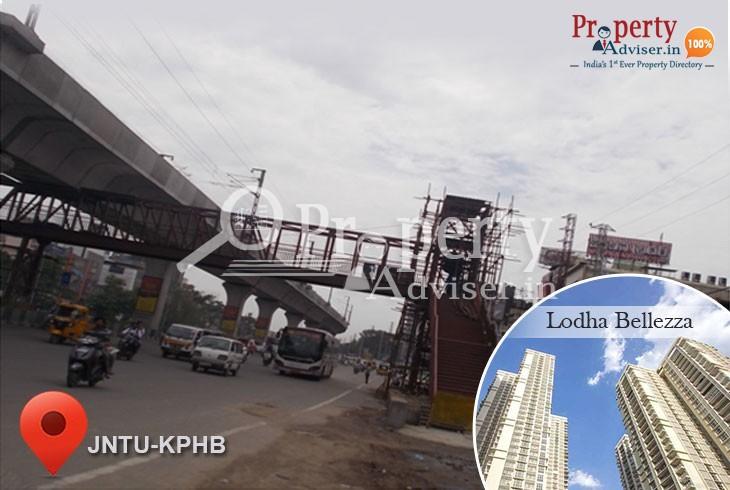 Foot over Bridge work is in Progress near residential properties at JNTU, Hyderabad