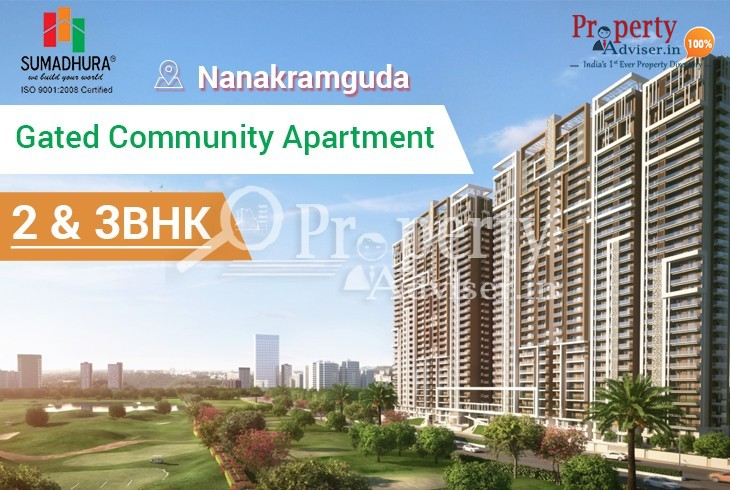 Gated community apartment for sale at Nanakramguda from Rs.70 lakhs