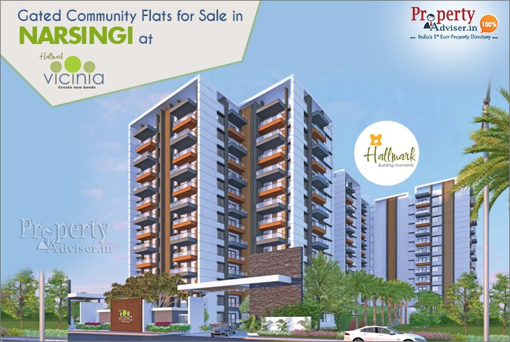Gated Community Flats for Sale in Narsingi at Hallmark Vicinia