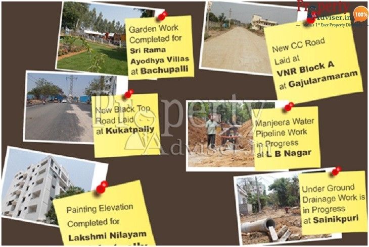 Current Happening Events of residential projects and areas in Hyderabad
