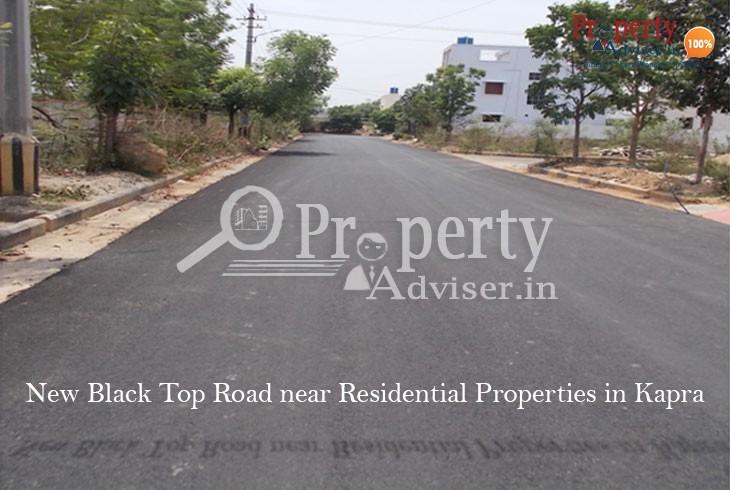 New Asphalt Road near Residential Properties in Kapra