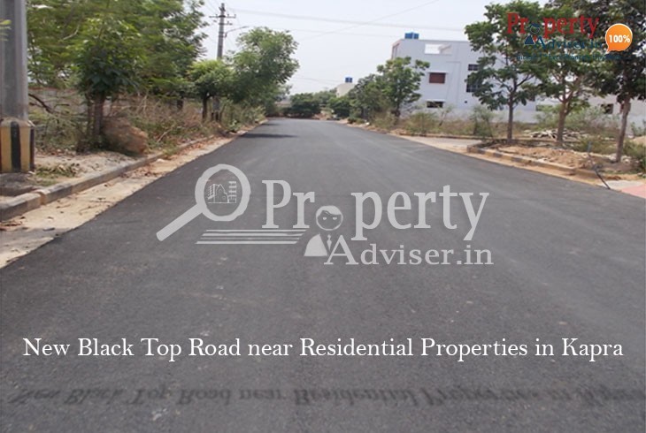 New Asphalt Road near Residential Properties in Kapra