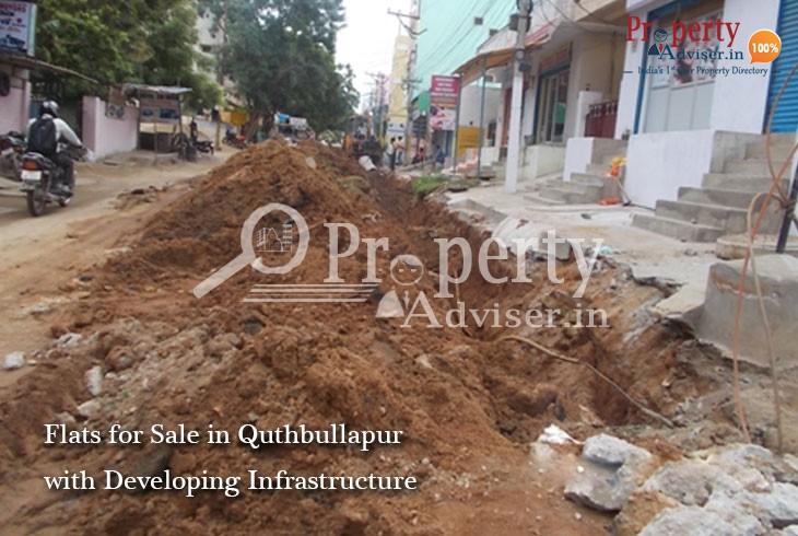 Infrastructure Development near Quthbullapur Residential Properties