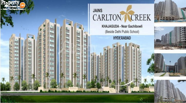 Jains Carlton Creek Block A in Khajaguda updated on 08-May-2019 with current status