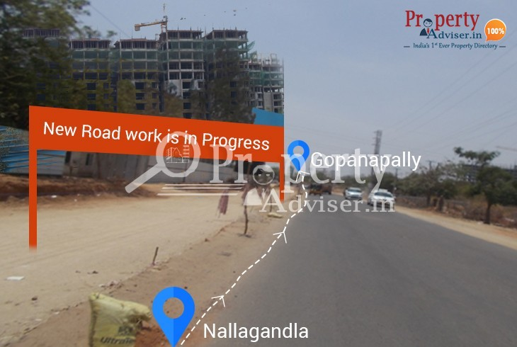 Laying of New Road from Nallagandla to Gopanapally near Residential Projects