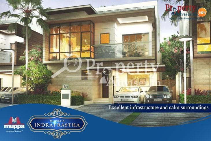 Muppas Indraprastha 4BHK luxury villas for sale in Tellapur