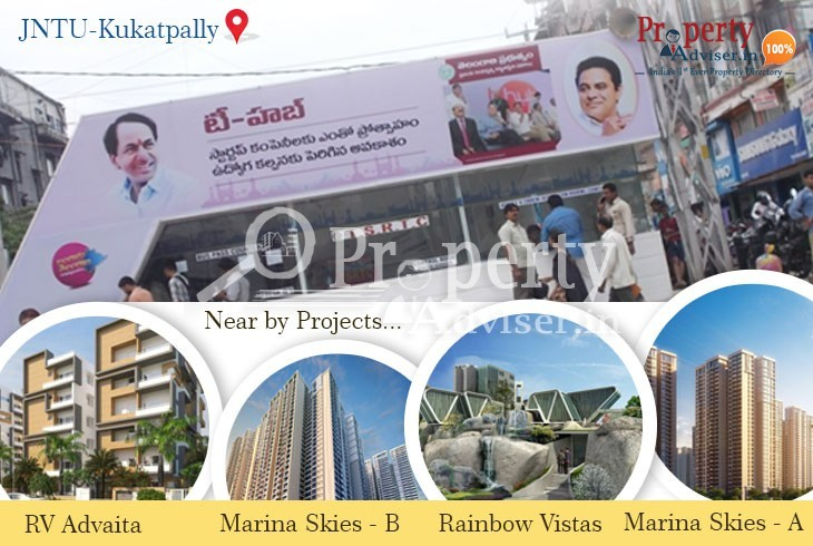 New AC Bus Stop near Apartments at JNTU, Kukatpally