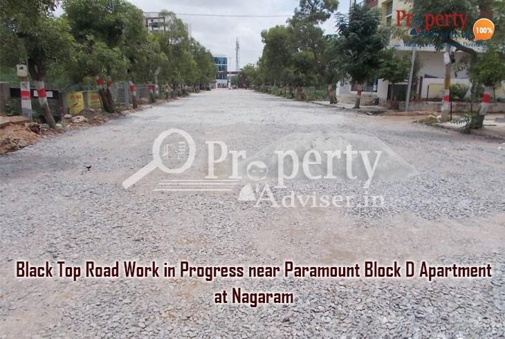 Road Work in Progress near Paramount Block D apartment