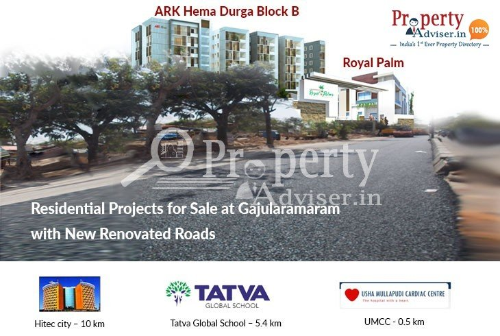Residential Projects for Sale at Gajularamaram with New Renovated Roads