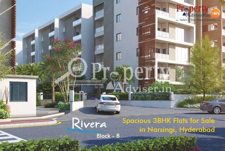 Spacious3BHK flats for sale in Narsingi