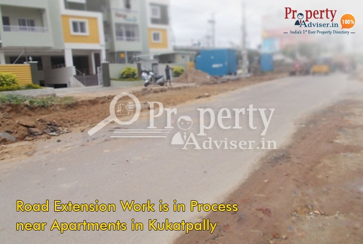Road Extension Work near KukatpallyResidentialApartments