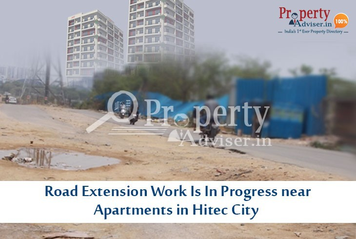 Road Extension Work near Apartments in Hitec City