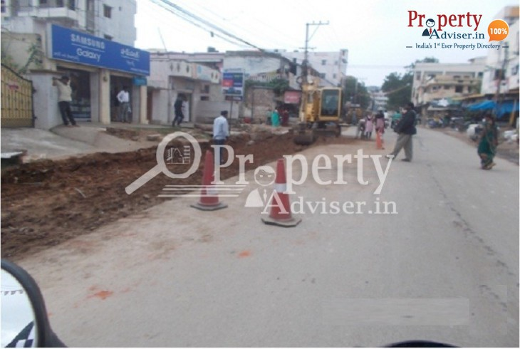 Road Extension work in progress near Nanakramguda apartments
