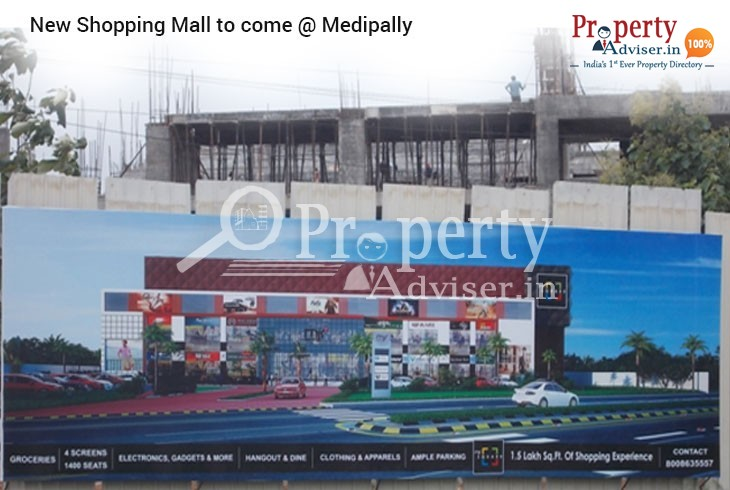 New Upcoming Luxurious Shopping Mall near Residential Projects in Medipally