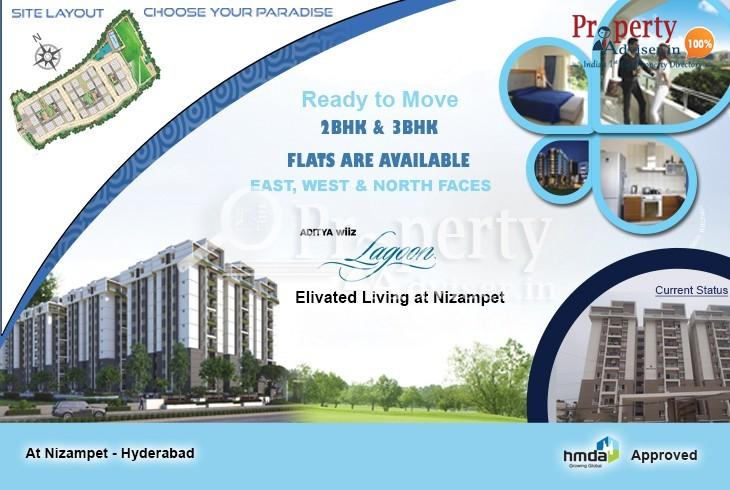 Aditya Wiiz Lagoon - Spaciously Designed Gated Community Apartment at Nizampet