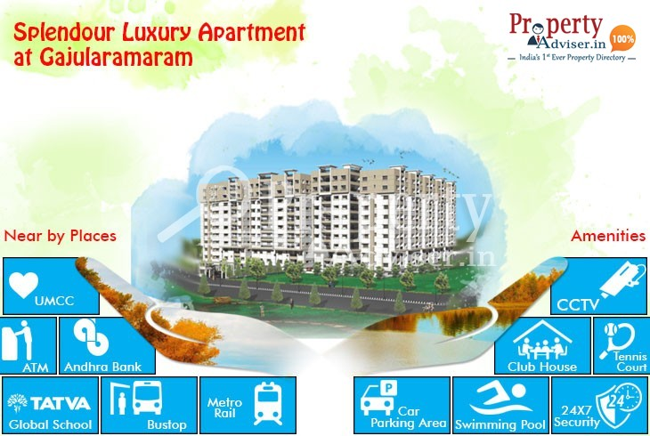 Own a Flat in Splendour Luxury Apartment at Gajularamaram with Good Facilities