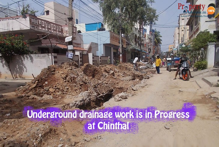 Underground Drainage work near chinthal residential homes