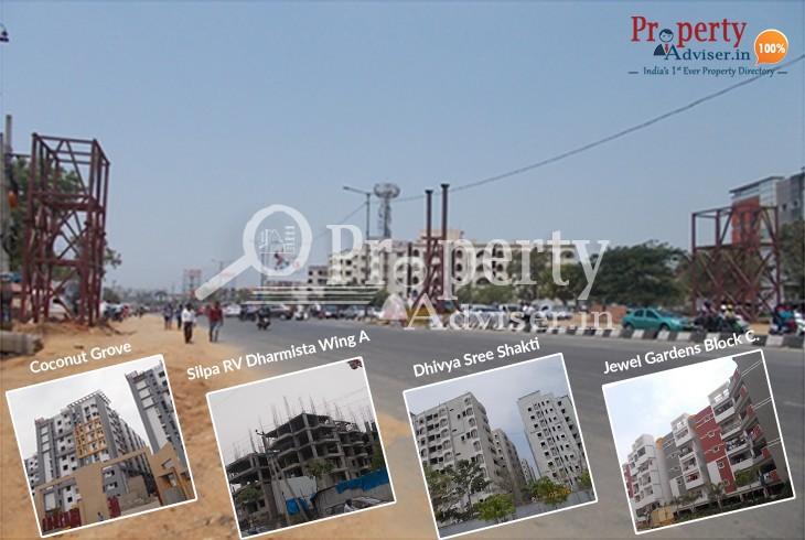 Upcoming Foot over Bridge near Residential Apartments at Miyapur