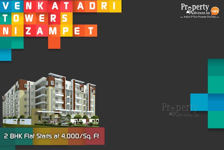 Venkatadri Towers - Affordable 2bhk Gated Community Flats for Sale in Nizampet
