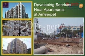 Apartment for Sale near Satyam Theatre at Ameerpet with Developing Services