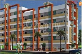 Residential Flamboyant apartment in Hyderabad with wall care putty works at Shree Indira Sadan