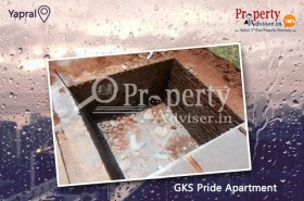Rain Water Harvesting Pits Work is in Progress in GKS Pride Apartment at Yapral