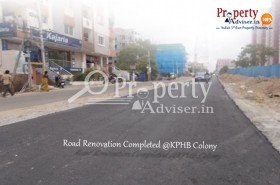Road Renovation completed near Apartments in KPHB Colony, Hyderabad