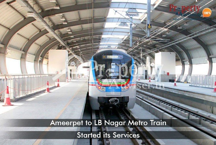 New Metro Route From LB Nagar To Ameerpet