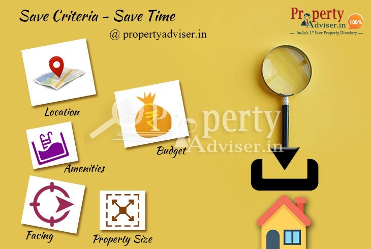Buy a house easily with save search option in property adviser
