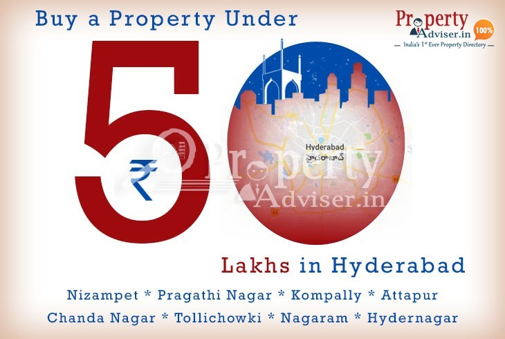Buy a property in Hyderabad under Rs. 50 lakhs with Good Amenit