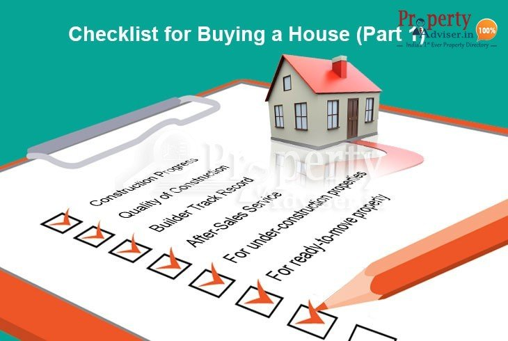 Checklist for Buying a House part one