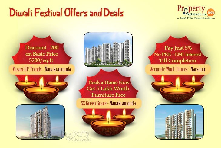 Special Diwali Offers on Hyderabad Properties