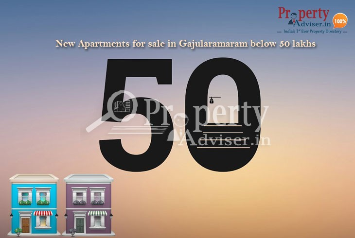 Apartments for sale in Gajularamaram below 50 lakhs
