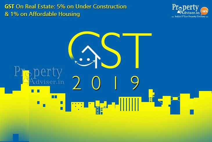GST On Real Estate: 5% on Under Construction & 1% on Affordable Housing