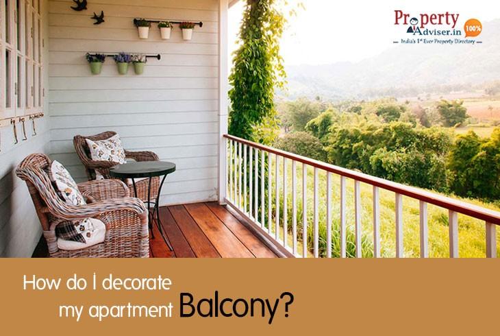 How do I decorate my apartment balcony?