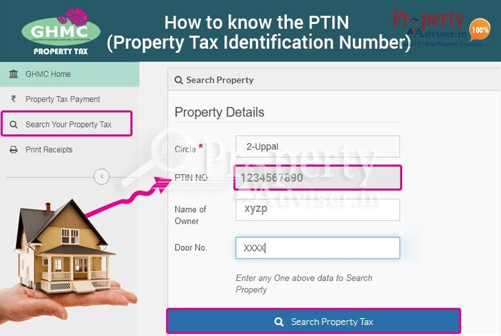 How to know the PTIN (Property Tax Identification Number) in Hyderabad