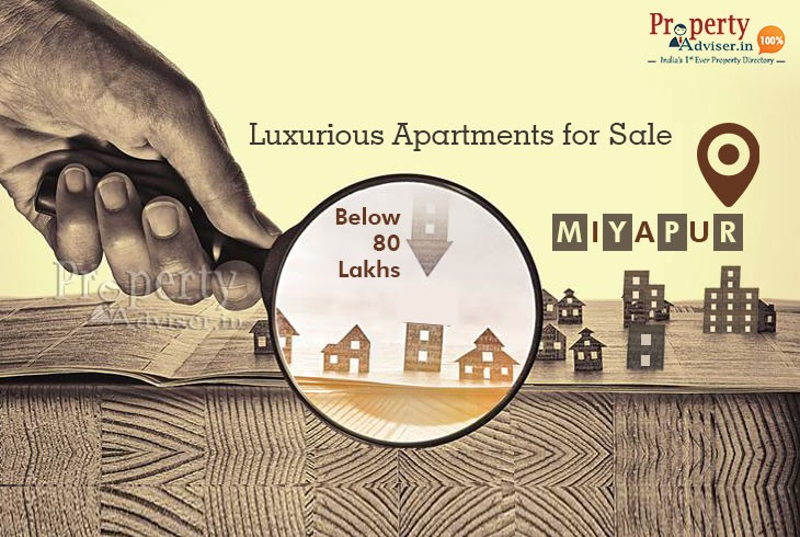 Luxurious Apartments for Sale in Miyapur below 80 Lakhs