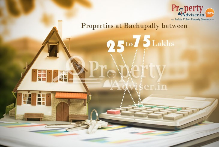 Apartments for sale in Bachupally below 75 lakhs